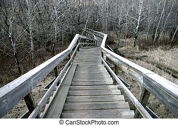 lépcsőház, hátborzongató