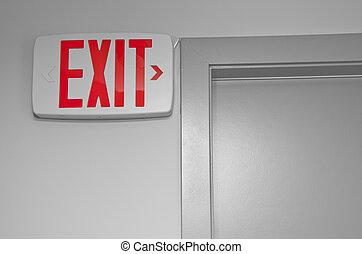 lépcsőház, lelépés cégtábla