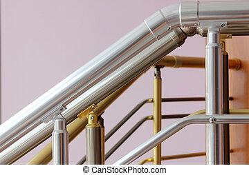 lépcsőház, védőkorlát