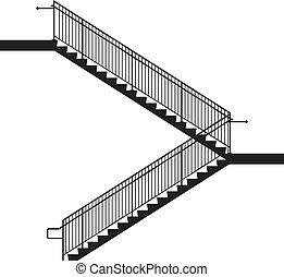 lépcsősor sín