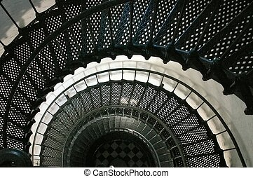 lépcsősor, spirál