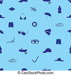 léto, a, pláž, ikona, dát, eps10