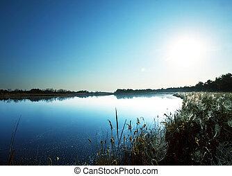 léto, jezero