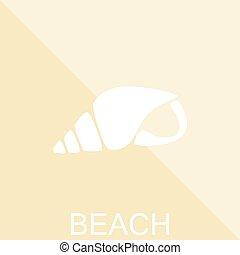 léto, pláž, poster., loupat, icon., vektor, ilustrace, eps10