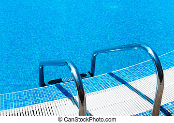 létra, pocsolya, úszás