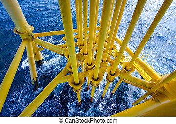 létrehoz, gáz, olaj, horony