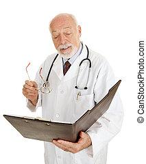 lê, -, mapa, doutor