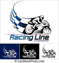 línea, carreras