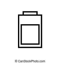 línea de alimentación, estilo, batería, icono