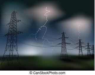 línea de electricidad