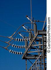 línea, detalle, potencia, substaion