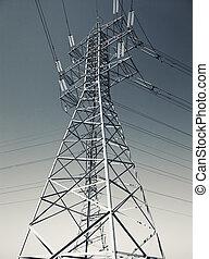 línea, energía eléctrica