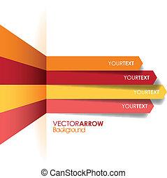 línea, flecha, plano de fondo, rojo