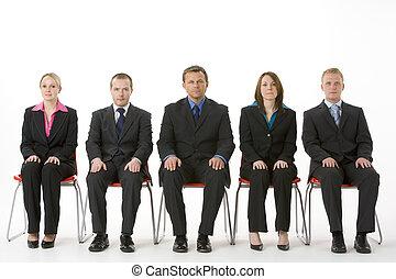 línea, gente, grupo, empresa / negocio, sentado
