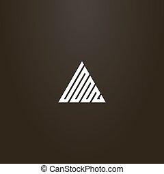 línea geométrica, vector, arte, simple, señal, solo,...