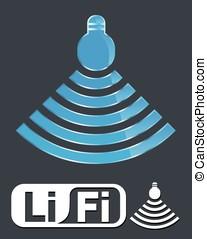 línea, li-fi, fidelidad, technology.