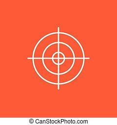 línea, objetivo que dispara, icon.