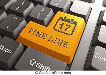 línea, teclado, button., tiempo