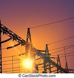 línea transmisión, eléctrico