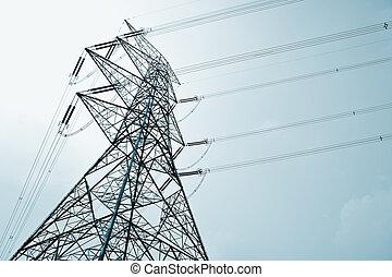 línea transmisión, potencia