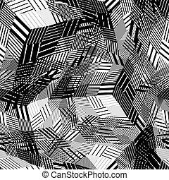 líneas, ajustado, seamless, patrón, vector, desordenado,...