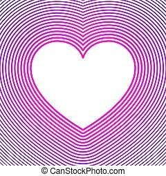 líneas blancas, púrpura, compensación, símbolo, rosa, encima...