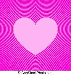 líneas, compensación, rosa, símbolo, corazón