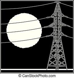 líneas, de alto voltaje