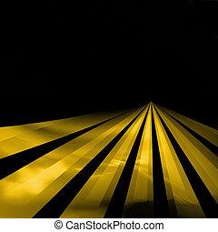 líneas, en, el, carretera