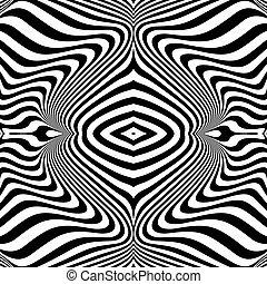 líneas, ondulación, diseño, plano de fondo, monocromo, ilusión