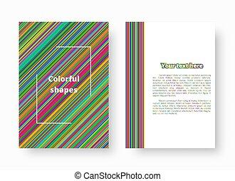 líneas, patrón, colorido