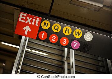 líneas, york, nuevo, metro
