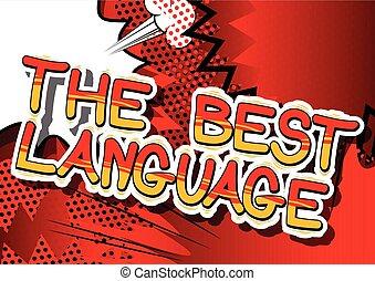 língua, word., -, livro, cômico, melhor