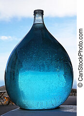 líquido azul