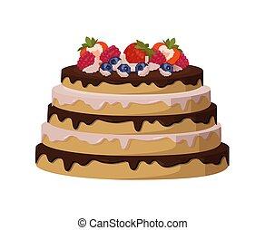 líquido, doce, esmalte, gostoso, entre, bolo, milhos