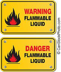 líquido inflamável, perigo