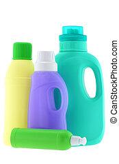 líquido, lavando, detergente, branquear