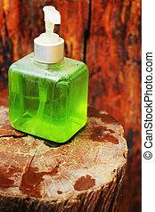 líquido, mão, soap.