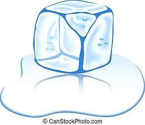 lód, cube.