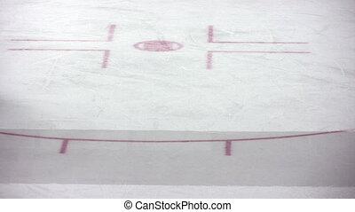 lód, maszyna, pole, polishes, hokej, mecz