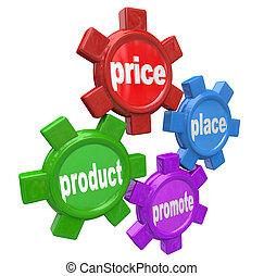 lóerő, ügy, sikeres, marketing, alapelvek, négy, elegyít
