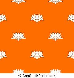 lótusz, motívum, virág, seamless