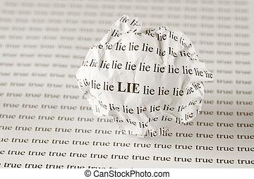lögn, sann, eller