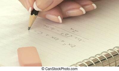 löschen, mathe, gleichung