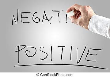 löschen, positiv, aus, negativ, mann