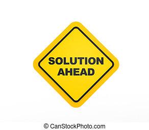 lösning, framåt, schackrande signera