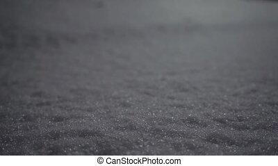 lövés, tél, feláll, snow., lábnyom, becsuk