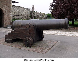 löveg, alatt, kalemegdan, erőd, -, belgrád, szerbia