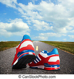løb, shoes.