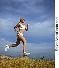 løber, kvindelig